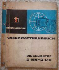 IHC Dieselmotor D155 + D179 Werkstatthandbuch
