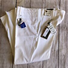 White Ariat Breeches Brittany Low Rise 34R Side Zip Nwt