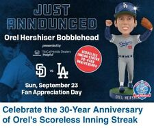 Orel Hershiser 2018 Los Angeles Dodgers Bobblehead SGA 9/23/18
