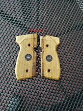 Checkering wooden grips  for Beretta 92fs,air gun, CO2, Umarex, new.
