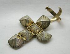 Antique Gold And Silver Masonic Folding Ball Pendant