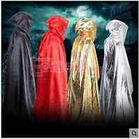 Sexy Kapuzenumhang Medieval Witchcraft Larp Kap Halloween Abend Cosplay Kostüm