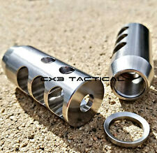6.5 Creedmoor Stainless Steel Muzzle Brake Comp 5/8-24 TPI Crush Washer 5/8x24