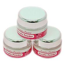 3 Unidades De Acrílico Blanco Polvo Consejos De Uñas Manicura Polímero de Cristal Builder # 271