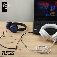 Headphone / Earphone Y Splitter cable BLACK 3.5mm Stereo 1 male : 2 female Jacks