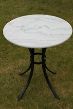 f3ed30383def White Marble Top Bistro Table 60cms Round - for Domestic or Commercial Use