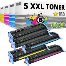 5x XXL tóner para HP Color LaserJet 1600 2600n 2605 DN 2605 dtn cm 1015 MFP 1017