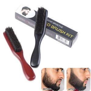 Men Boar Bristles Cleaning Beard Grooming Brush Barber Hair Comb Shaving Too.bu