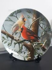 """Birds """"The Cardinal"""" Knowles Collector Plate by Kevin Daniel P51"""