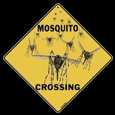 "Mosquito Crossing Sign, 12"" on sides, 16"" on Diagona 00002000 l, Aluminum, Indoor/Ourdoor"