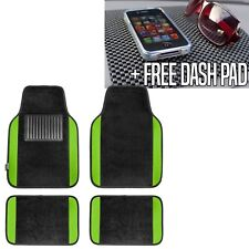 Carpet Floor Mats With Green Trim Fit Most Car, Truck, Suv or Van  Free Dash Pad