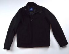 Old Navy Men's Small Black Quilted Full-Zip Wool Blend Winter Coat/Jacket