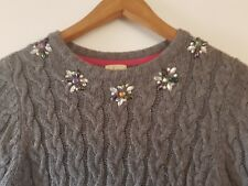 Girls Yumi Jumper Dress - Grey With Embellishment -Age 13/14 - Worn Once