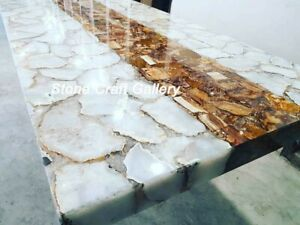 "60"" x 36"" Agate Center / counter Table Top pietradura Handmade Work Home Decor"