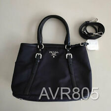 Prada 1BA841 Bleu Blue Tessuto Soft Calf Top Handle Shopping Tote Brand New