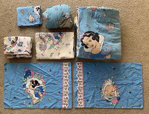 Vintage 90's Disney's Snow White 7pc Twin/Double Size Bedding Set