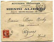 LETTRE PUBLICITAIRE HENRI ALIBERT AVEC CORRESPONDANCE BEZIER / OEZENAS 1914
