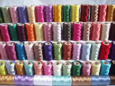 Sewing Thread Silk for embroidery Assorted Colors gitti Lot Of 100 Spools