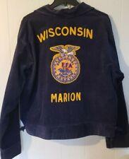 Vintage 1960's Ffa Corduroy Jacket - Marion Wisconsin Future Farmers of America