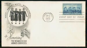 Mayfairstamps US FDC 1952 COVER WOMEN IN ARMED FORCES wwm8477