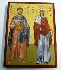 Sankt Adrianus/Adrian v. Nikomedien Heilige Natalia Icon Icoon Icona икона Icone