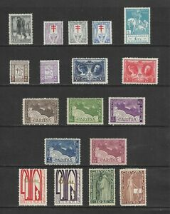 Belgium - 1923-1936 mint collection on 2 scans, oddments and a few sets