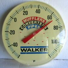 """Vintage Walker 12"""" Round Mufflers Converters Pipes Advertising Wall Thermometer"""