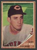 1962 Topps #145 Barry Latman VG/VGEX Indians GREEN TINT VAR. 20934
