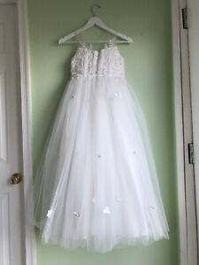 Flower Girl Wedding Dress Ivory Size 10. Also Is Perfect For First Communion.