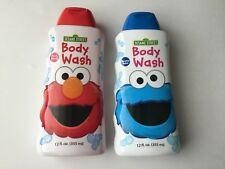 Lot of 2 Sesame Street Body Wash, Cherry Berry/Monster Melon, 12 Oz.