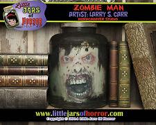 """Zombie Man"" Monster Head in Jar Halloween/Horror Prop/Decor Fetid Green Version"