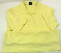 Nike Men's Dri-Fit Golf Polo Short Sleeve Shirt Yellow W/MDA Classic Patch Sz M