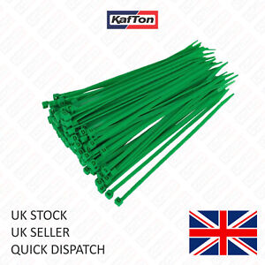 Green Cable Ties. All Sizes Small, Medium & Large Size Zip Tie Wraps