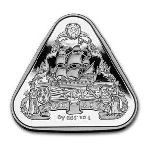 2020 Australia Shipwreck Zuytdorp 1 oz Silver Triangular Coin Perth Mint Capsule