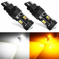 JDM ASTAR 3030-SMD 3157 4157NA LED Switchback White Amber Turn Signal Light Dual
