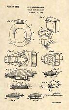 Original Toilet Seat US Patent Art Print - Bathroom Antique Decor- Vintage 403