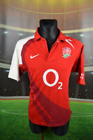 ENGLAND NIKE 2007-09 AWAY RUGBY FOOTBALL SHIRT (L) JERSEY TOP TRIKOT MAGLIA RARE