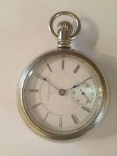 Rare Vintage Elgin National Watch Co. 17 Jewel Silver Stemwind Pocket Watch