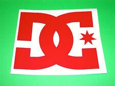 DC SHOES DC SHOE CO USA RED GARAGE TRAILER TRUCK CAR BACK WINDOW STICKER DECAL