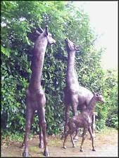Bronzeskulptur, Giraffenfamilie, Dekoration für ihren Garten *