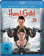 3D Blu-ray * HÄNSEL UND GRETEL : HEXENJÄGER 3D (+ BLU-RAY + DVD) # NEU OVP +