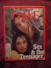 TIME August 21 1972 Aug 8/24/72 SEX and the TEENAGER ++