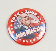 John McCain Vote 2008 Pin Button IDW Presidental Comic