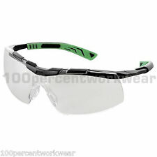1 x Pair UNIVET 5X6 CLEAR Lens Safety Spectacles Specs Glasses Eyewear UV400 New