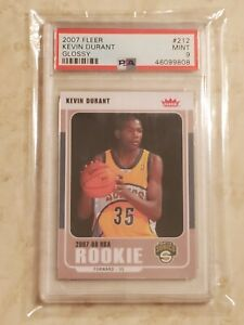 2007-08 Fleer Glossy Kevin Durant PSA 9 RC