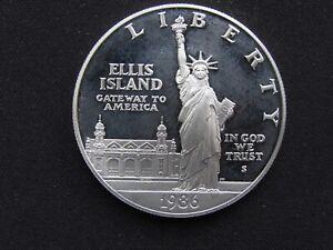 1986 Liberty Uncirculated Silver Commemorative Dollar 90% Silver NO BOX OR COA..