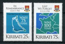 Kiribati 2018 MNH WWI WW1 WWII WW2 In Remembrance 2v Set Military War Stamps