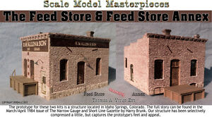 Scale Model Masterpieces/Yorke Feed Store & Feed Store Annex Kit O/1;48