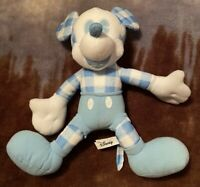 """14"""" Blue Checkered Mickey Mouse Disney Official Licensed Plush Toy"""