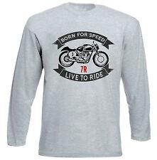 AJS 7R-gris à manches longues T-Shirt-Toutes les tailles en stock